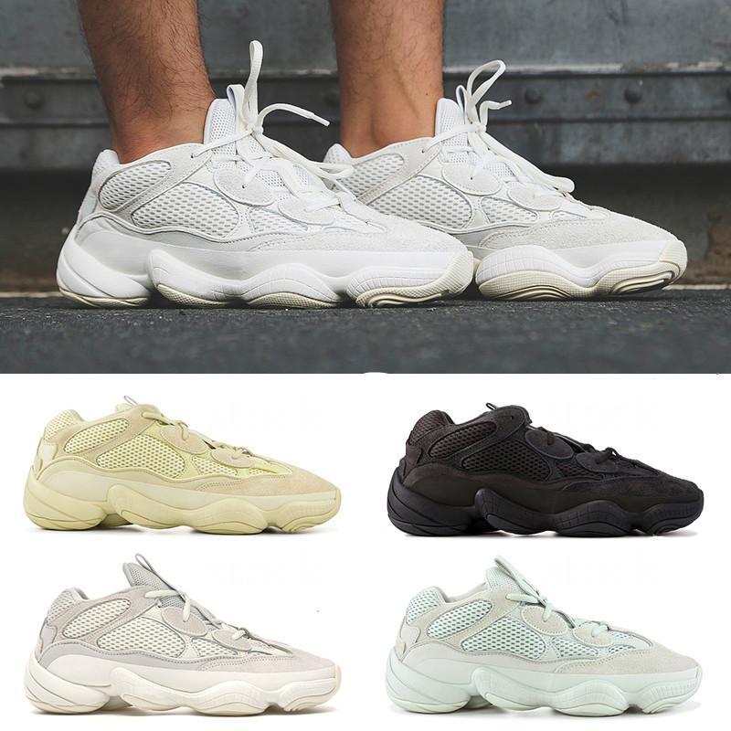 Свободный корабль Kanye West обувь Wave Runner 500s Румяна Соль Untility Черный Супер Луна Желтый кроссовки кроссовки спортивная обувь
