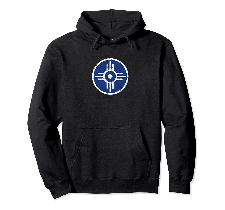 Wichita Канзас Флаг «Главная» Символ (огорчало) - Wichita пуловер Толстовка унисекс Размер S-5XL с Цвет Черный / Серый / Синий / Королевский синий / Dark Heathe