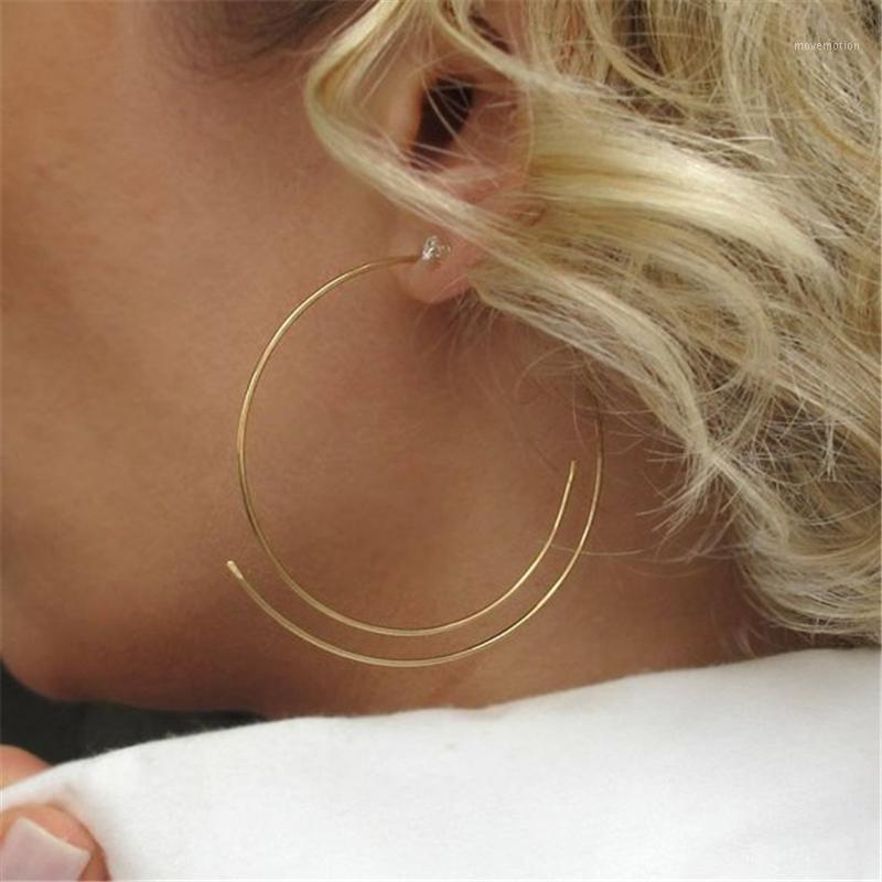 Pendientes de aro joyas hechas a mano Llena de oro / 925 Silver Brinco Vintage Joyería Regalo Pendientes Pendientes Oorbellen Pendientes para Mujeres1