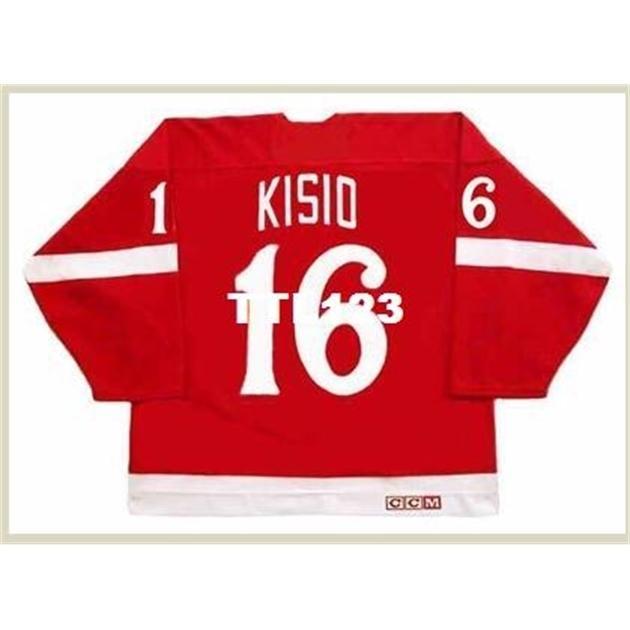 740 # 16 Kelly Kisio Detroit Red Wings 1982 CCM Vintage Hockey Jersey o personalizado Cualquier nombre o Número Retro Jersey
