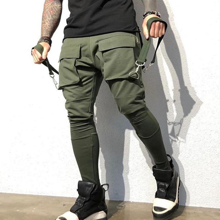 2020 Mens Stylist faixa Pant Casual Estilo Mens Joggers Calças Track Pants Hot Sell carga Pant Calças elástico na cintura Homens Macacões M-3XL