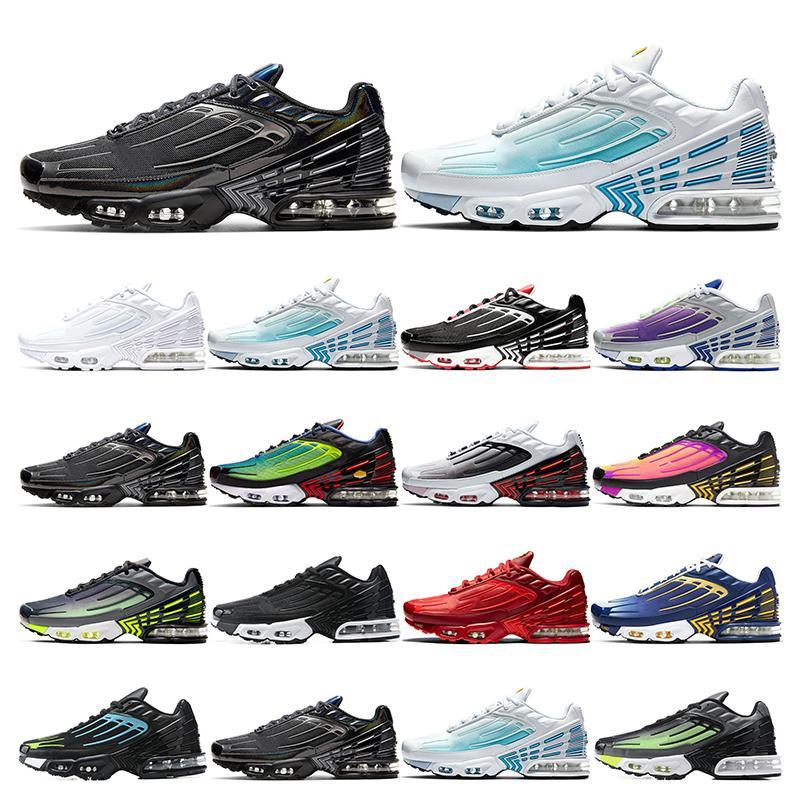 tn 3 Top-Qualität Tunedmens Schuhe tn Plus 3 III Laser Blue Deep Royal Black Iridescent Sport Turnschuhe arbeiten im Freien laufen