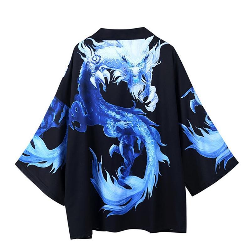 Japanese kimono cardigan Men's shirts male samurai costume clothing kimono jacket mens shirt yukata chemise homme