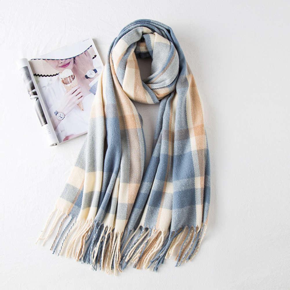 Шарф штрафы женские осенью и зимний цвет соответствует вязаной теплым кашемиром, как шаль мою