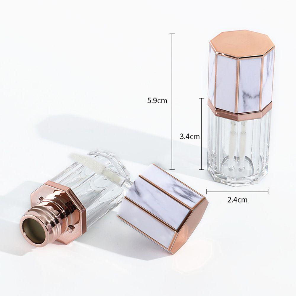 Esvaziar 5ML DIY mármore Garrafas Lip Gloss Tubos recarregáveis Lip Glaze pacote para DIY Lip Amostra Trave OOC2865