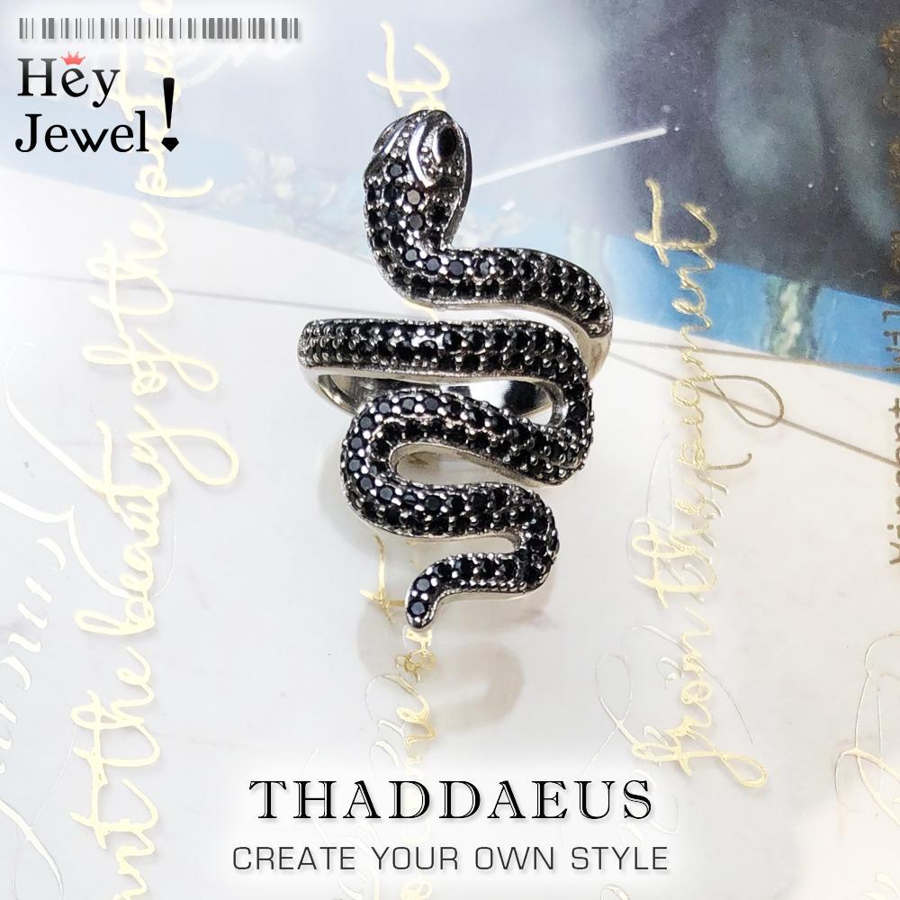 Anello di pavimentazione serpente nero open-end, europa stile glam moda buona gioia gioia per le donne, 2020 regalo in argento sterling 925, super offerte 0126
