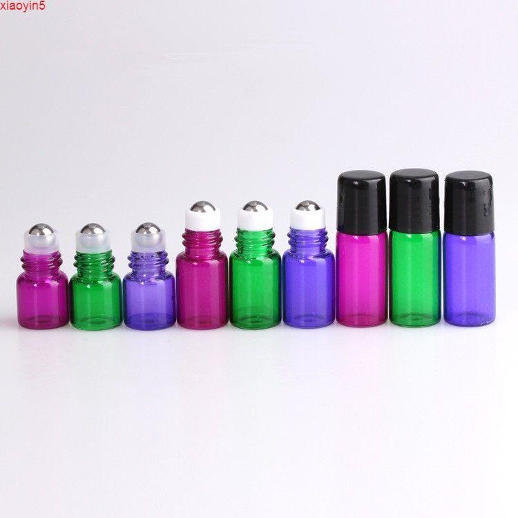 1000 шт. Красочные маленькие контейнерные рулоны на бутылке для эфирных нефтяных парфюмерных ароматизаторов Пустые засовесные бутылки