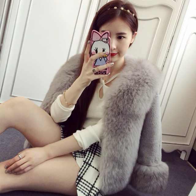 Yeni Moda 2020 kış Kadın Faux Kürk Kadın Kat İnce kürk Bayan elbise Sıcak satış