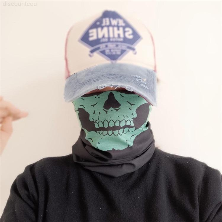 Skeleton Anime Party Schädel US Magic Scal Masken Halloween 2020 Neu Entworfene Banada Hals Gaiter Outdoor Laufende Sport Reitmasken FYAC