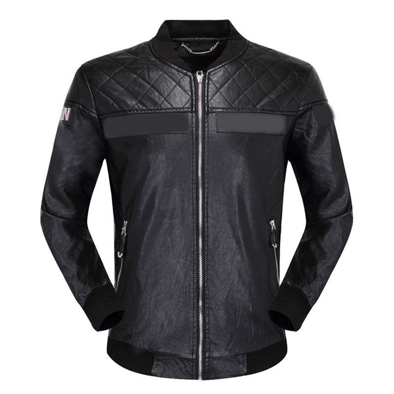 2020 Hiver Hommes Cuir Manteau de fourrure Jacket Slim Faux En Cuir Moto PU Faur Veste à manches longues Vêtements d'extérieur Hiver