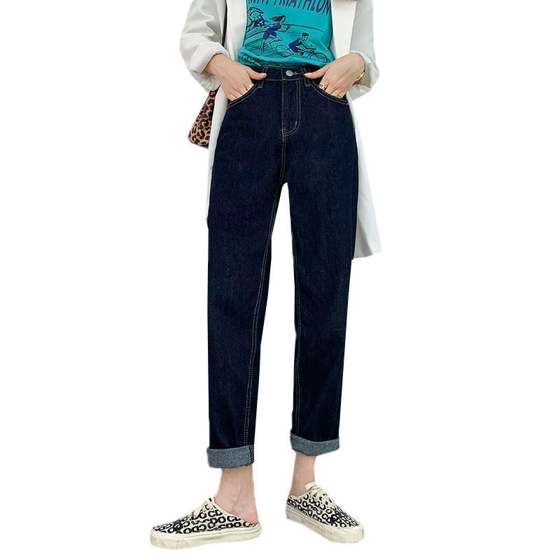 dritto autunno allentato alti jeans della vita delle donne e l'inverno 2020 la versione coreana del nuovo tutto-fiammifero pantaloni vecchi di nove punti