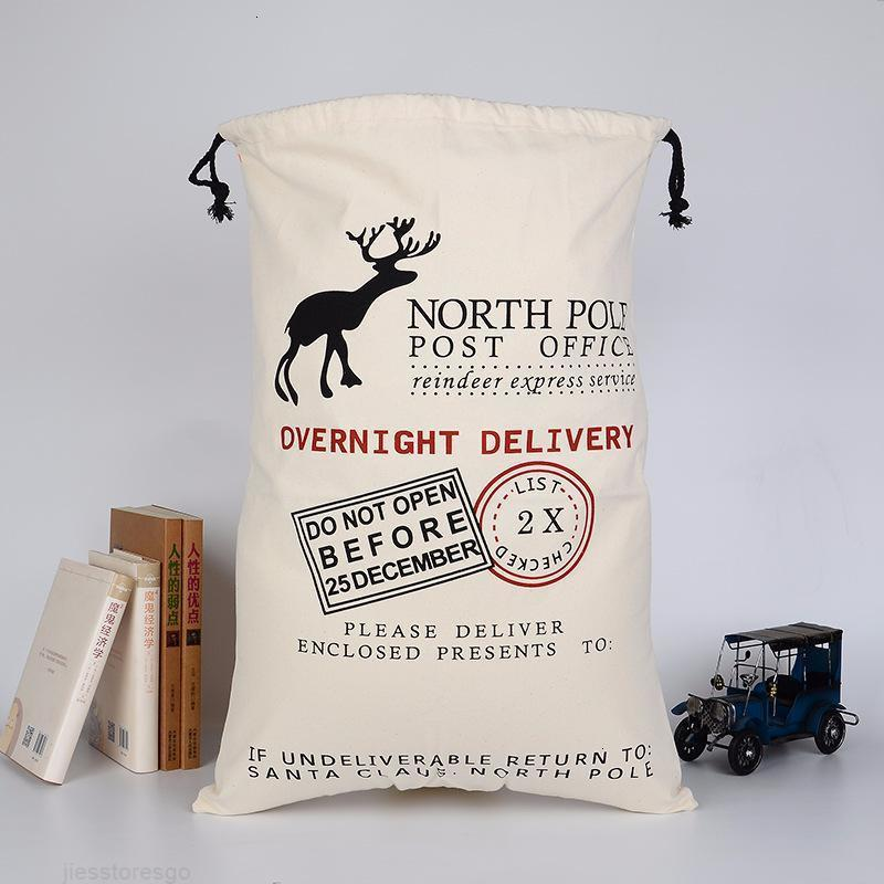Babbo Sacchi tela di cotone Borse grandi organico pesante coulisse regalo personalizzato FY42 Festival del partito della decorazione di Natale