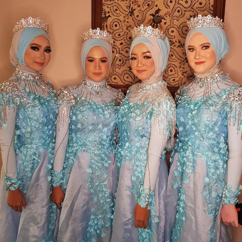 Muslim Gold-Schulter-Halsketten-Kristall Brautfestzug Hochzeit Strass Schulter Schmuckkette Halskette für Hochzeits-Geschenk