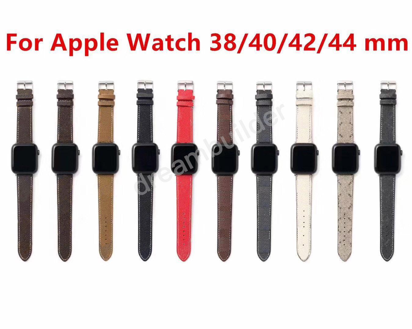 L مصمم الأزياء watchbands 42 ملليمتر 38 ملليمتر 40 ملليمتر 44 ملليمتر iwatch 2 3 4 5 العصابات الجلود حزام سوار المشارب watchband شحن مجاني