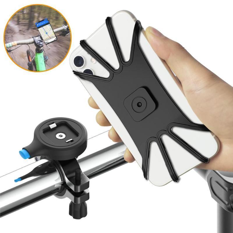 Teléfono celular soportes Soporte universal GPS Soporte de bicicleta Soporte de bicicleta Monte Moto Soporte Clip Motocicleta para Android 12 Soporte