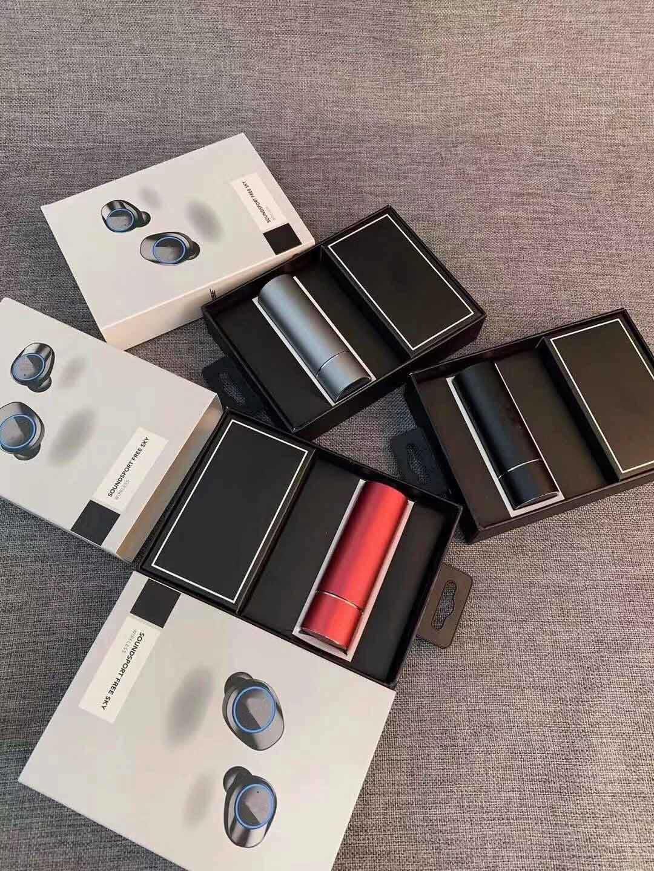 الشهير المصمم بلوتوث اللاسلكية الأذن سماعة BudsTWS المصممين سماعات نمط جديد الشحن مربع سماعة 3 الألوان المتاحة