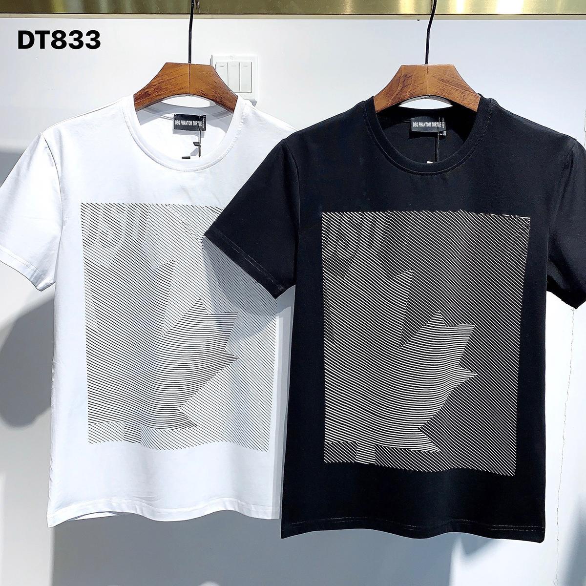 DSQ Phantom Tortue 2021ss New Mens Designer T-shirt Paris Mode T-shirts Été DSQ Modèle T-shirt Homme Top Qualité 100% coton Top 1119