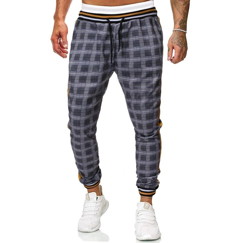 Pantalon à carreaux Hommes Pantalon Casual Automne Hommes Surpannage Joggers Pantalons de mode Hip Hop Loose Pantalons pour hommes Nouveau Y201123