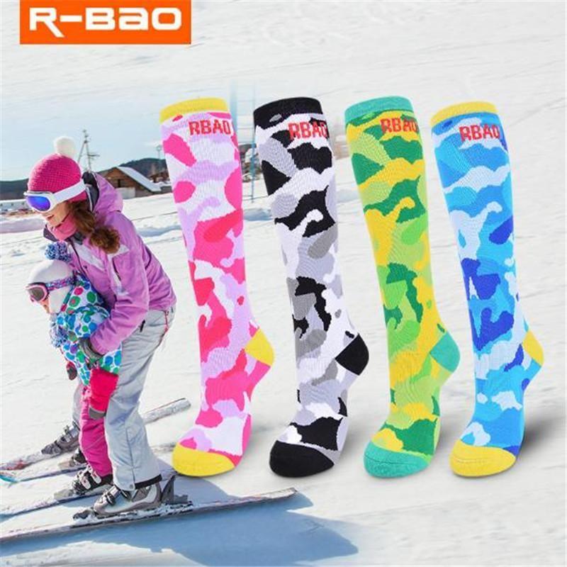 Spor Çorap 2 Çift / grup R-Bao RB3307 Çocuk Kayak Naylon Çocuk Açık Hiking Bisiklet