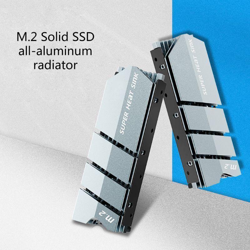 1Set M.2 SSD NVMe NG-FF Heat Sink Aluminum Heatsink with Thermal Pad for M2 2280 SSD Hard Disk Desktop PC Thermal Gasket