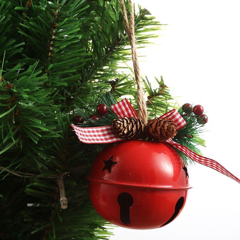 Рождество Jingle кованого железа Большой колокол украшения кулон Рождество Белл Подвеска Рождественские украшения Новогодняя вечеринка детей игрушки 300pcs T1I2651
