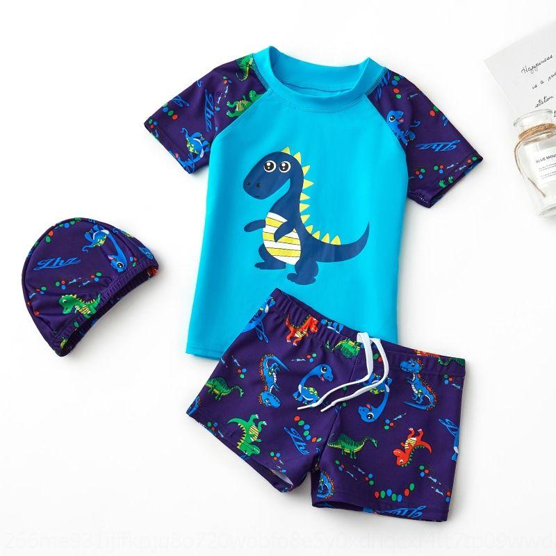 7RA29 Yeni çocuk Boysswim Boyssplit Bebek Dinozor Sıcak Bahar Yeni çocuk Boysswim Boyssplit Mayo Bebek Dinozor Kaplıca Swimsui
