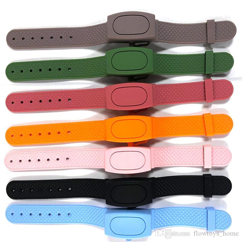 Wristband Hand Pumps Hand Wash Gel Dispenser Bracelet Wristband Hand Soothing Silicone Bracelet With Bottle