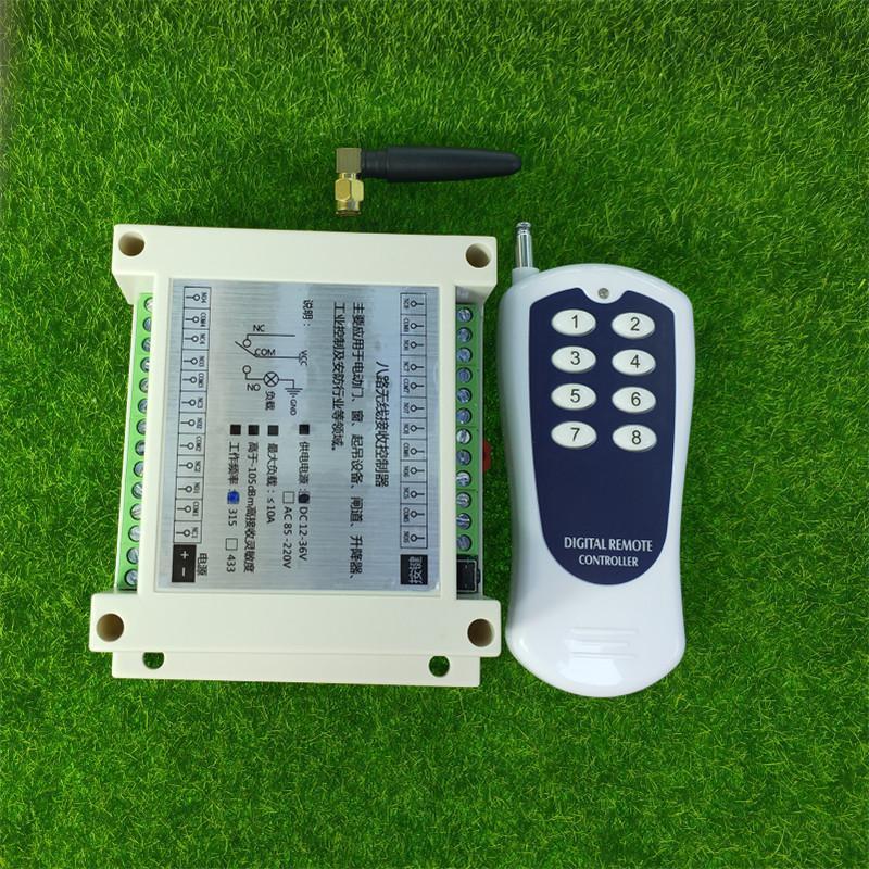 DC 12V 24V 36V 8CH RF Wireless Remote Control Switch & Remote Control System Receiver Transmitter 315MHz 8CH Relay NC NO COM