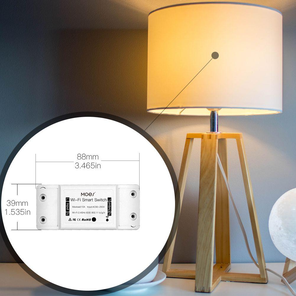 Interrupteur WiFi Contrôleur de porte de garage pour porte de garage de voiture avec Alexa Google Home et IFTT Smart Life / TUYA