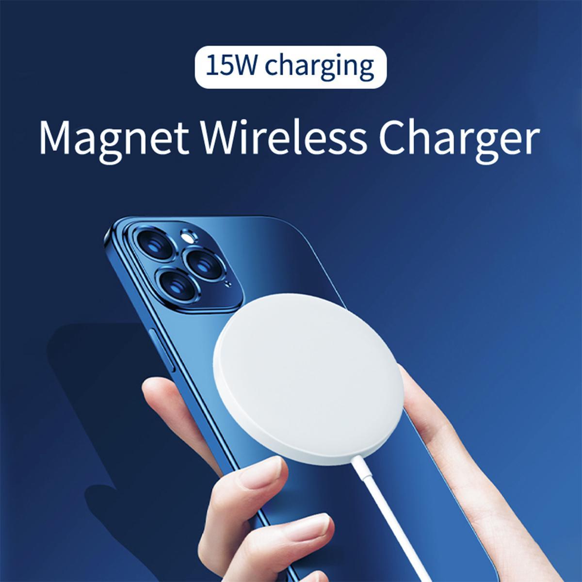 Juropin für iPhone 12 mini pro max Ladegerät 15W Magnet Qi neue drahtlose Ladegerät Auf Lager