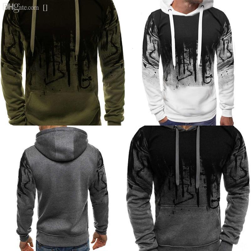 95alt наполовину всплеск чернил 3d печать Sweetshirt новое высококачественное махровое свитер творческий для человека хлопок пуловер свитер чернокожие мужчины и женщины zip