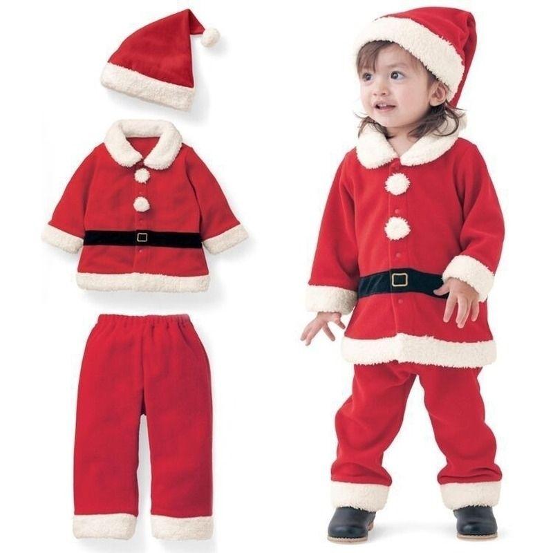 Ropa para niños Año Nuevo Ropa navideña Chicos y niñas Dress Up Santa Claus Ropa Disfraces de Navidad Ropa para niños 201126