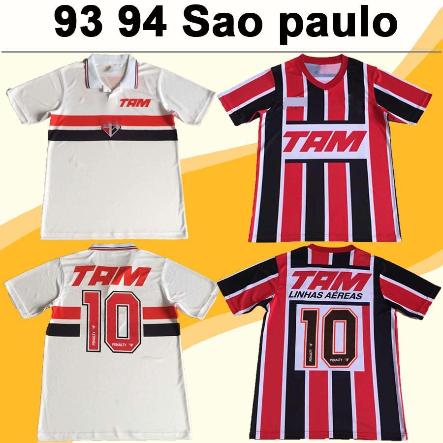 92 93 Sao paulo Mens Soccer Jerseys ELIVELTON ANILTON Home White Away Red RETRO Football Shirt Camisetas de futebol Short Sleeve
