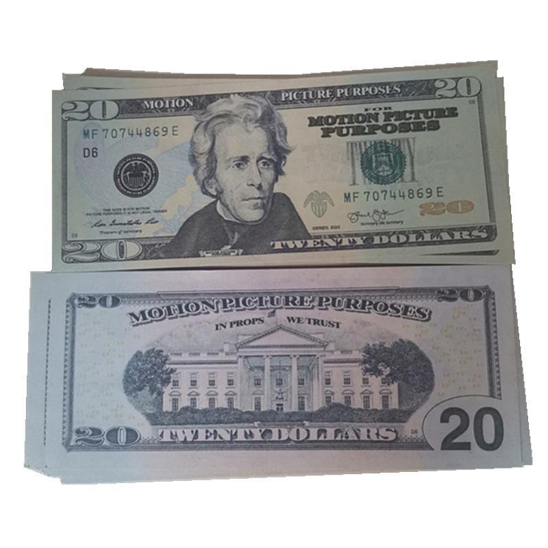 Nuevo 20 Bar Money Fake Money Faux Hehn Pop Euro Movie Club Club Nocturno Billet Billet Play Atmosphere 100pcs / Pack Colectio Collectio Dollars LR QAPO