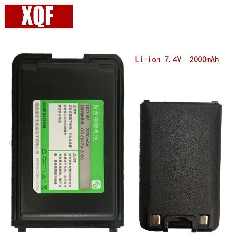 Oppxun NOVO Li-ion Battery 7.4V 2000mAh para a Rádio QUANSHENG Walkie Talkie TG-UV2 Two Way