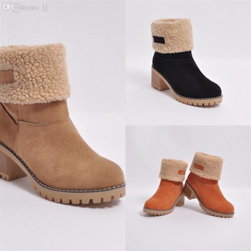 BI5VM Casual-Chic Design Chunky Karistras каблуки женские на высоком каблуке красные сапоги дизайнерские лодыжки нижние женщины высокое качество зима добыча роскоши