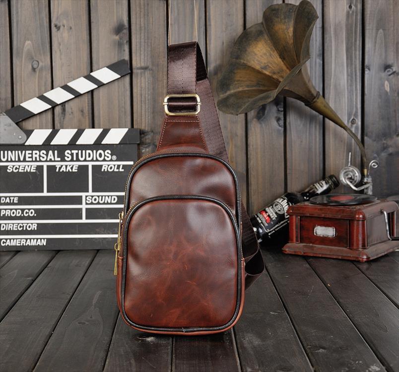 Старинные падения пересечения перевозки Диагональ качественные кожа PU Мужская сумка на грудь Сумка хорошая сумка RJFPW