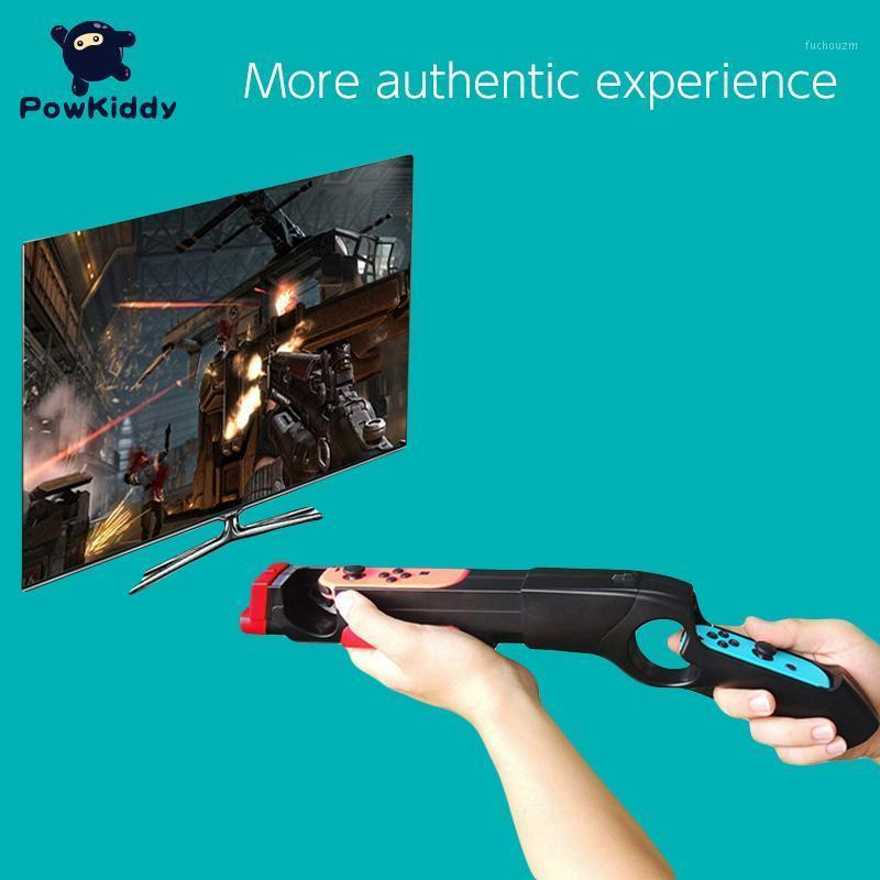 POWKIDDY For Switch Game Gun Controller Compatible For Switch Shooting Games Handle Grip Somatosensory Games1