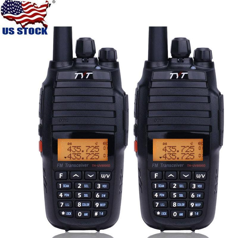 EU Stock 2x TYT TH-UV8000D Cruz Banda 10W 3600mAh VHF UHF Dual Band Two Way Radio Walkie Talkie