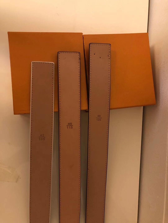 Cinture da uomo cintura per cinture di moda uomini pelle cuoio nero cinghie di business donne grande oro fibbia da donna classico Ceinture casual con scatola arancione
