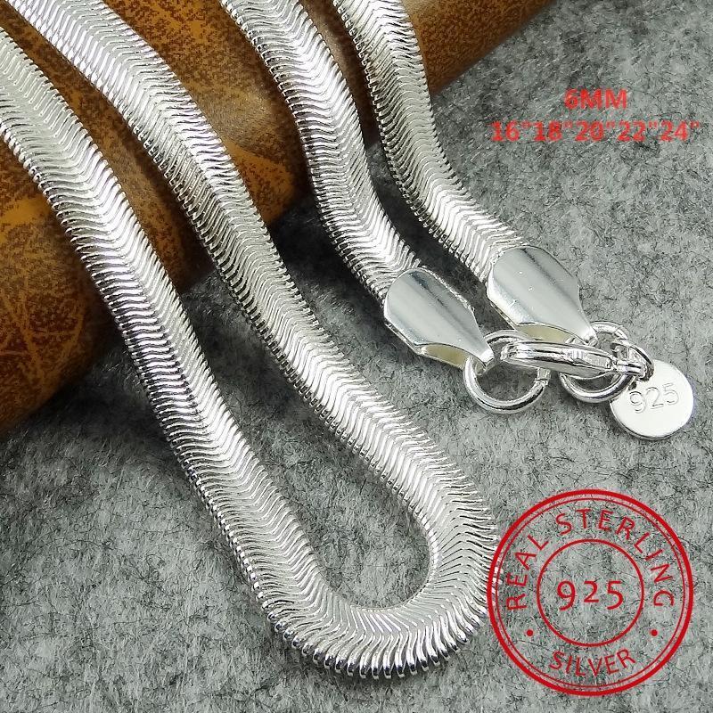 1 pieza envío gratis 16-24 pulgadas Niza 925 STRILLA STRINLING SOZ SANGE HOMBRE Cadena de collar con cierre de langosta Joyería