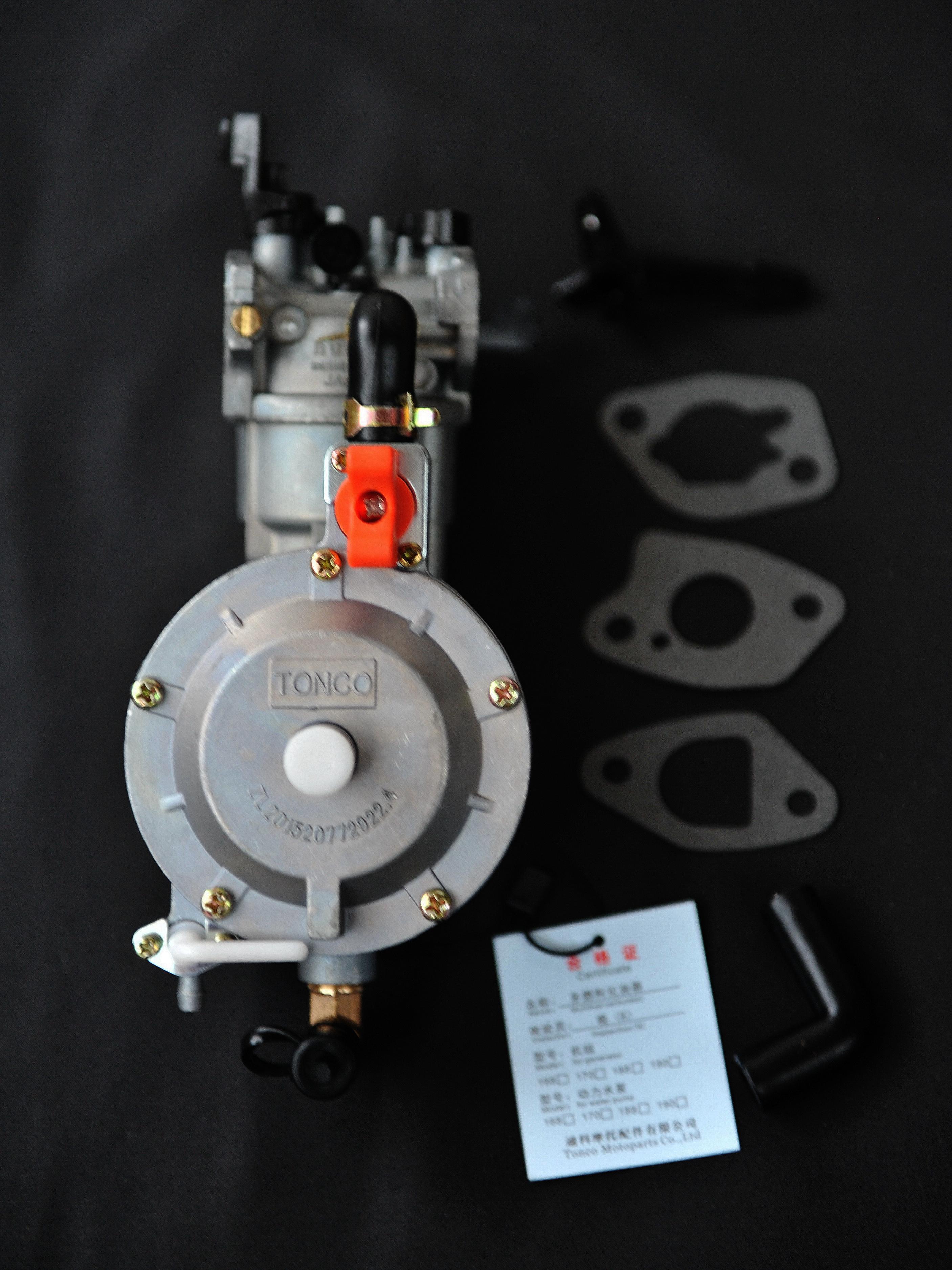 170F GX200 LPG NG водяной насос двигателя двойного топлива карбюратор Tonco