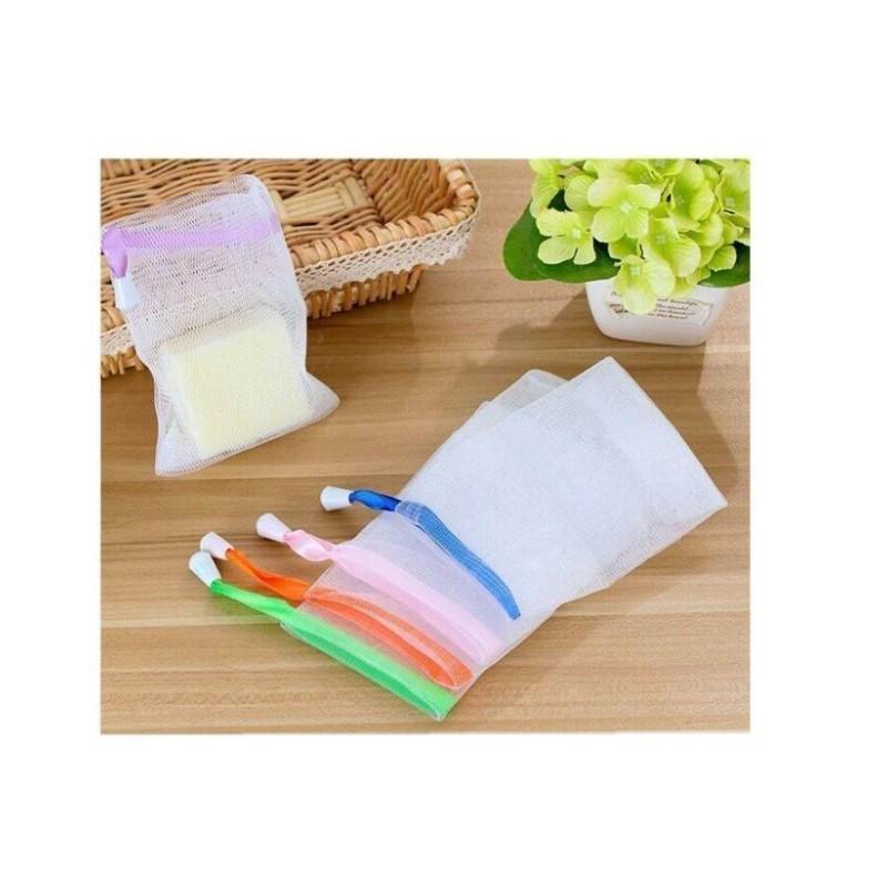 9 * 15cm saco de sabão malha de espuma luva ensaboada para limpeza de espuma de limpeza banheiro net banheiro luvas de limpeza de malha esponjas 221 n2