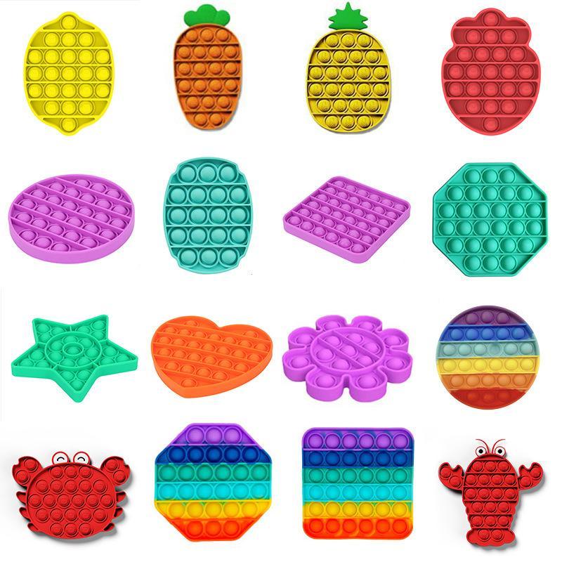 Push Pop Toy Bubble Sensory Zappeln Spielzeug Autismus Stress Reliever Sensidey Spielzeug für Kinder Familienfeier-Favoriten Meer Versand FFA4592