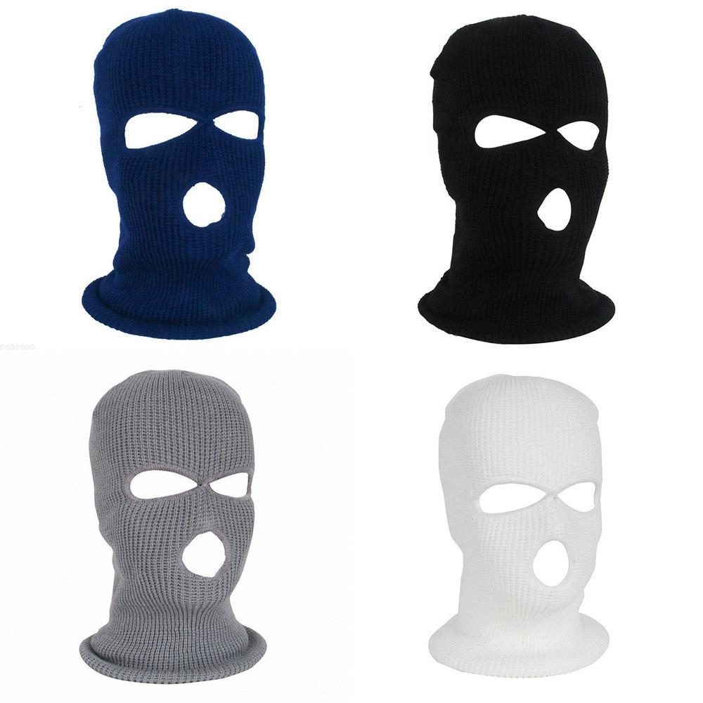 Maschera maschera per la maschera Sci Nuovo inverno Facemask Cap Full Balaclava Cappuccio Army Tactical 3 Hole Cycling Inverno # 4N26 JYKD #