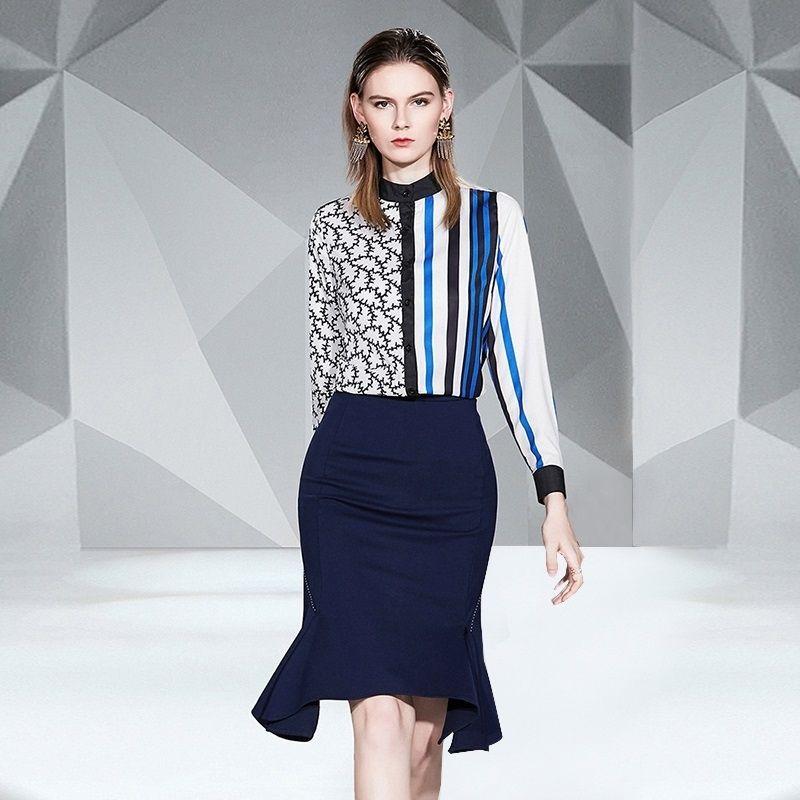 Fashion Slim Collar Long Sleeve Shirt
