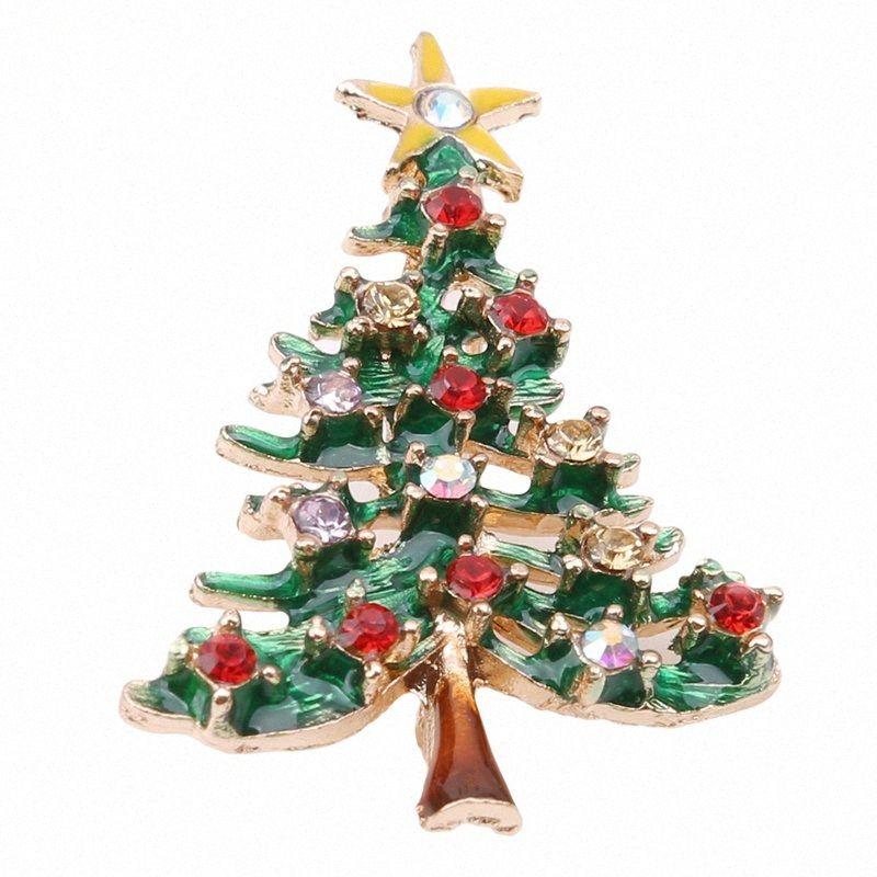 Frauen Legierung Beliebte Arbol de Navidad Kostüm Kragen Clip Creative Girls Geschenke Schal Schnalle Weihnachten Zubehör Schmuck Broschen Geschenk U1EU #