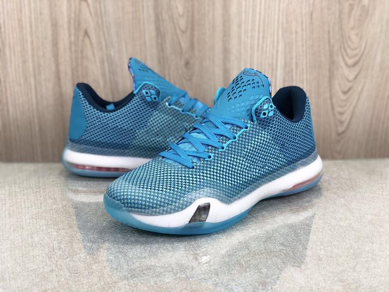 Zoom mamba x 10 5am Flight Blue Lagoon Worn Meen Баскетбольные туфли Точное качество Mamba 10 и 7 спортивные туфли с коробкой Size7-12