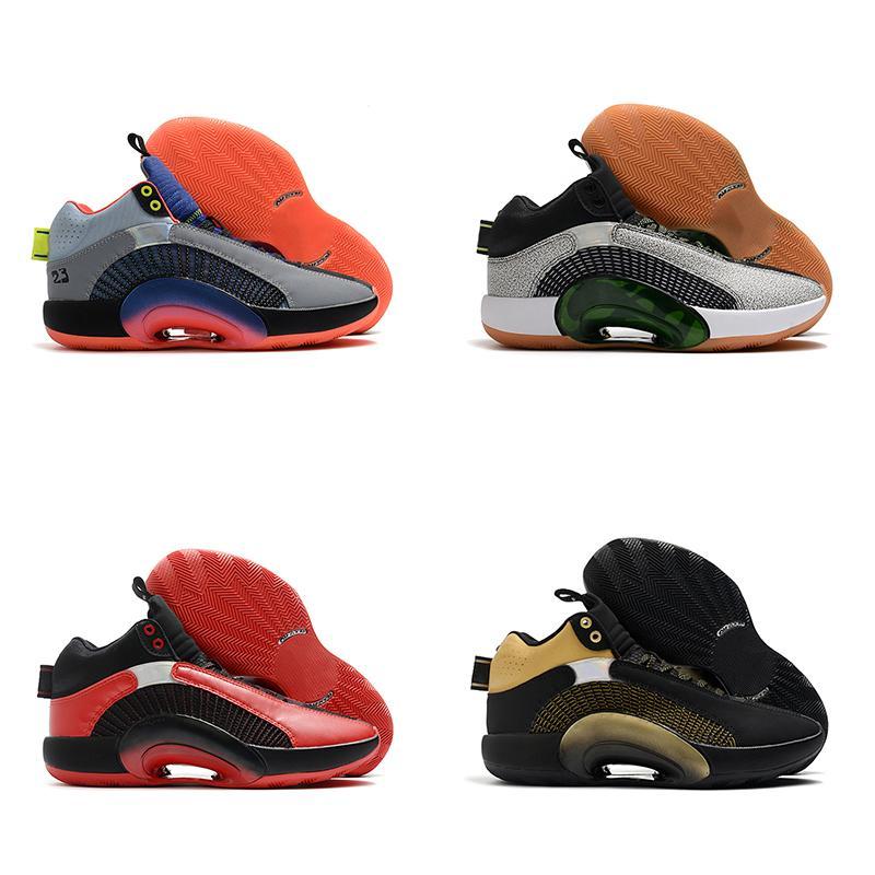 Nike Air Jordan 35 Zapatillas de baloncesto para hombre 35s Center Of Gravity Boys Black Gold Bred Men Trainer Zapatillas deportivas