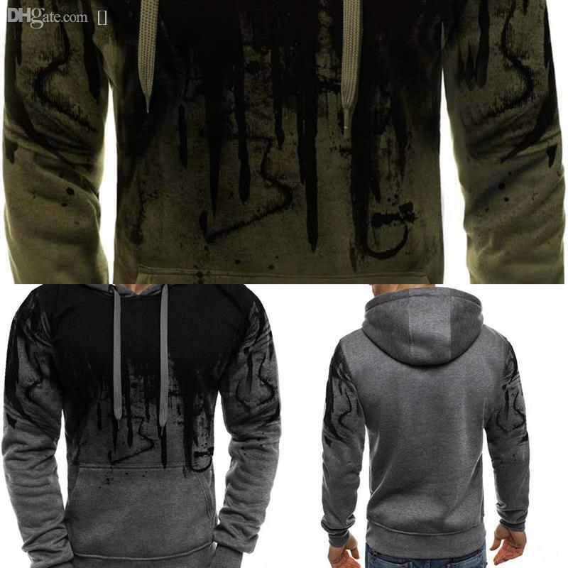 UD3FY Cachemire Splash Coton Coton Pull Men Automne Robe Jersey Pull 3D Impression d'hiver Hiver Hombre Cap Pull Homme Pull Homme Jumper de loisirs
